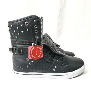 Pastry Black Embellished High Top Sneakers